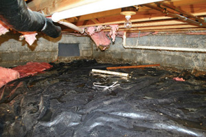 Crawl Space Repair Before in South Bend