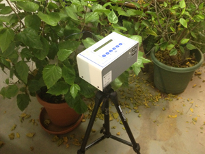 Continuous radon monitor in South Bend home