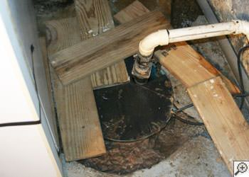 An ugly, clogged sump pump system in Logansport, Indiana and Michigan