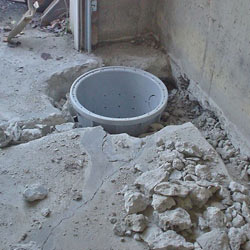 Placing a sump pit in a Nappanee  home
