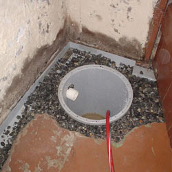 Installing a sump in a sump pump liner in a Mishawaka home