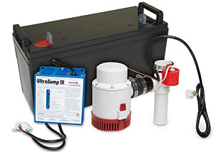 a battery backup sump pump system in Dowagiac