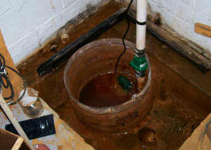 Extreme clogging and rust in a Dowagiac  sump pump system