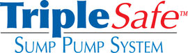 Sump pump system logo for our TripleSafe™, available in areas like Winamac