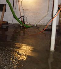 Several feet of floodwaters in a Notre Dame basement