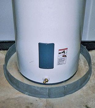 An old water heater in Edwardsburg, IN & MI with flood protection installed