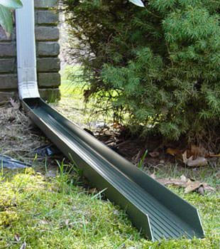 Gutter downspout extension installed in Walkerton