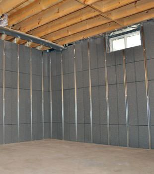 Installed basement wall panels installed in Peru