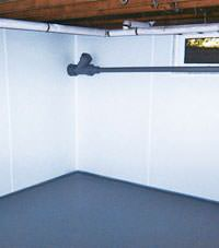 Plastic basement wall panels installed in a Plymouth , Indiana and Michigan home