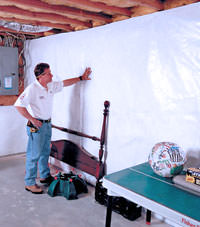 Plastic 20-mil vapor barrier for dirt basements, Plymouth , Indiana and Michigan installation