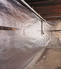 Radiant heat barrier and vapor barrier for finished basement walls in Plymouth , Indiana and Michigan